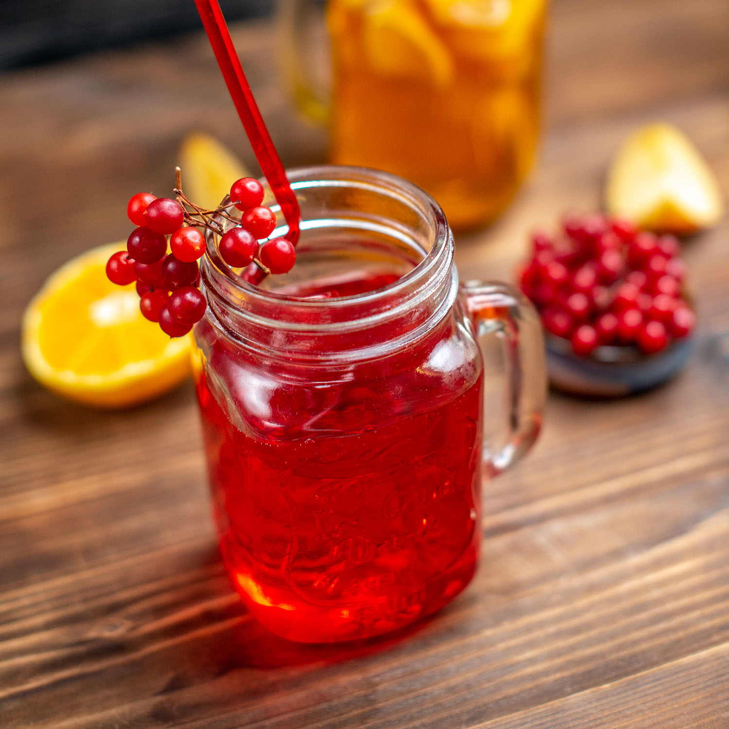 front view fresh fruity juice orange and cranberry drinks inside cans on brown wooden desk drink photo cocktail color fruit bar